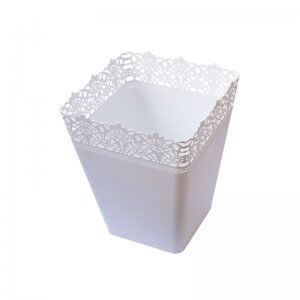 Square Bin Pattern-White